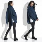 Sweater, wide, warm, turtleneck, navy blue
