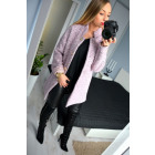 Coat, warm, buttons, simple, pink