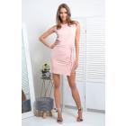 Dress, knitwear, DE LUX, powder pink