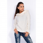 Sweatshirt with a collar, fleece, high quality, ec
