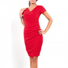 Dress pleated, elegant, red