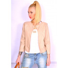 Spring jacket, eco leather, beige, S, M, L, XL