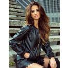Jacket, eco leather, producer, uni, DE LUX, black