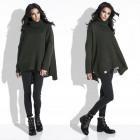 Sweater, wide, warm, turtleneck, olive