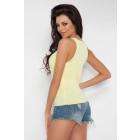Blouse, shirt, straps, quality, yellow