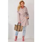 Coat fleece, spring, beige