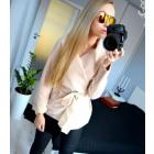 Coat short, layered, uni, beige