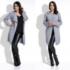 cardigan, sweater, hood, long, quality, gray