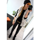 Fur vest, warm, uni, quality, gray