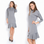 Dress, flounce, fit, feminine, gray