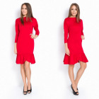 Dress, flounce, fit, feminine, red