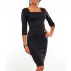 Elegant dress, classic, feminine, black