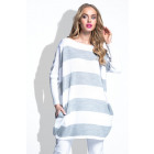 Sweater, tunic, producer, quality, gray