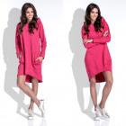 Dress, hood, pockets, quality, amaranth