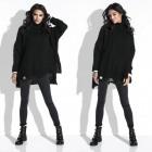 Sweater, wide, warm, turtleneck, black