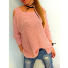Sweater shoulders, new, manufacturer, pink