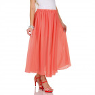 Skirt airy, summer, coral, unisize