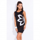 Tunic with flower dress manufacturer, black