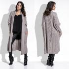 cardigan, sweater, pockets, long, quality, mocca