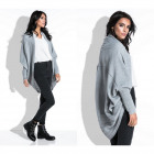 Cardigan, sweater, cape, quality, gray