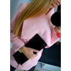 Coat short, layered, uni, pink