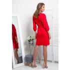 dress, cut, binding, DE LUX, red