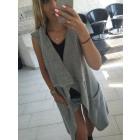 Vest, tank top, sweater, coat, gray