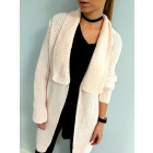 Long cardigan, sweater, coat, quality, pink