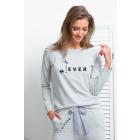 Set, sweatshirt, pants, DE LUX, gray