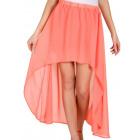 Skirt airy chiffon, apricot, unisize