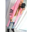Sweatshirt, print, long, uni, pink