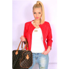 Spring jacket, eco leather, red, S, M, L, XL