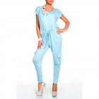 Coverall with pockets, blue, oversize