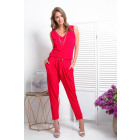 Coverall, tied, DE LUX, quality, red