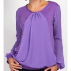 Chiffon blouse, purple, big size, L XL XXL