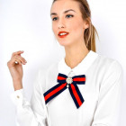 Blouse, shirt, decorative, brooch, white