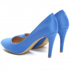 Scarpe, pompe, tacchi, perno, blu scuro