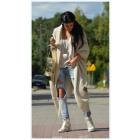 Long sweater, coat, bedspread, oversize, beige