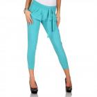 Pants, slightly glowing, unisize, turquoise