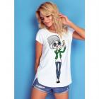 T-Shirt DE LUX: SELFIE, oversize, white print