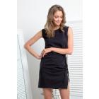 Dress, knitwear, DE LUX, black