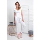 Set, pants, T-Shirt , DE LUX, white