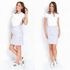 Skirt, tie, manufacturer, gray