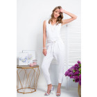 Coverall, tied, DE LUX, quality, white