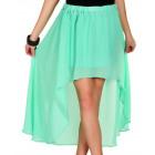 Skirt airy chiffon, mint, unisize