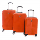 Set of 3 Geographical Norway Suitcases