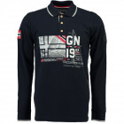 Men's long sleeve polo shirt Geographical Norw