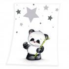 Fynn Panda Microfaserflausch -couverture