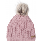 Roadsign Bobble knitted hat, pink, one size