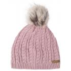 Roadsign Cappello lavorato a maglia bobble, rosa,